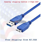 USB 3.0 Super Speed 5Gbps Type A Male to Micro B Male Cable For HDD 3ft 5ft 10ft