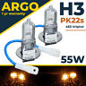 H3 Halogen Clear 55w Bulbs Front Fog 12v Light Standard Look 2x / Pair Lamp 483