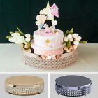 """15.5"""" wide Metal Beaded CAKE STAND Wedding Party Home Birthday Decorations SALE"""