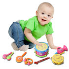 7pcs Kid Baby Roll Drum Musical Instruments Band Cute Children Toy Baby Gift Set