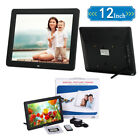 "NEW 12"" LED Digital Photo Frame Picture MP3 MP4 Clock Video Movie Remote Control"