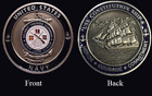 ~ USS Constitution ~ Ship 6 ~ US Navy Recruit Training Command Challenge Coin ~