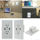 2PCS Dual USB Port US Wall Socket Charger AC Power Receptacle Outlet Plate Panel