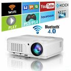 HD Smart Andriod Bluetooth LED Projector Home Theater Backyard Party HDMI USB AV