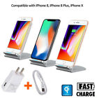 Qi 2 Coils Wireless Fast Charger Charging Stand Dock for Samsung iPhone X XS Max