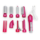 8-in-1 One Step Hair Dryer Volumizer Styler Hot Air Brush Curle Curler Comb