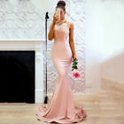 Womens Halterneck Prom Maxi Fishtail Evening Party Cocktail Wedding Long Dress