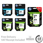 Original HP 304 / 304XL Black & Colour Ink Cartridges - Genuine HP Cartridges