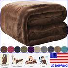 VEEYOO Flannel Fleece Blanket Soft Microfiber Plush Warm Bed Sofa Throw Blanket image