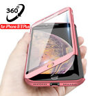 For iPhone 11 7 8 Xr Xs Max+Tempered Glass Ultra Slim Phone Case Full Body Cover