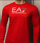 Men&#039;s Emporio Armani EA7 Long Sleeve Crew Neck T-Shirt *** Various Colour and Si <br/> 100% Satisfaction ** 30 days Return ** Fast N Free Post