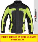 Richa Bolt Fluo Yellow Textile Motorcycle Armoured Jacket Motorbike Scooter