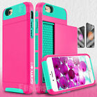 For iPhone 6 Plus iPhone6 Wallet Full Body Slim Hard Protector Skin Case Cover