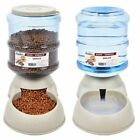 Pet Dog Puppy Cat Automatic Water Dispenser Food Dish Bowl Feeder 3.8L Best