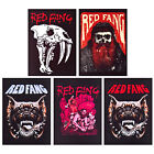 Red Fang patch DIY printed new textile patch doom stoner death metal hard rock