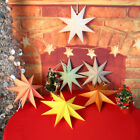 Nine-pointed Paper Star Lamp Birthday Bar Party Wall Lampshade Decor Ornament US