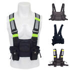 Nylon Glitter Hip Hop Streetwear Chest Bag Functional Tactical Harness Rig Bag