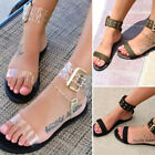 Open Toe Transparent Shoes Gladiator Clear Jelly Summer Roman Sandals For Women