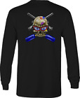 Gun Long Sleeve Tshirt Paintball Skull Guns shirt for Men or Women