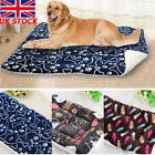 UK Pet Washable Home Blanket Cat Dog Bed Cushion Mattress Kennel Soft Crate Mat