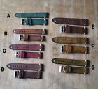 18 20 22 24 Vintage Distressed Aged Calf Military Bomber Pilot Watch Band Strap