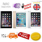 New Apple iPad Air 2 Wi-Fi Cellular LTE 9.7inch Display Touch ID Sealed Unlocked