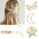 UK Women Girl Geometric Metal Hair Clip Hollow Out Hairpin Bridal Hair Accessory