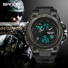SANDA Mens Sport Outdoor Military Watches Silicone Quartz Digital Wristwatch 739 image