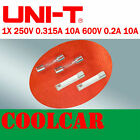 UNI-T 250V 0.315A 10A 600V 0.2A 10A Fast blow FUSE for UT106 Multimeter AU