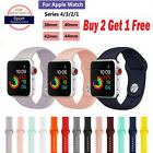 For Apple iWatch 1/2/3/4 Series Silicone Sport Loop Bracelet Watch Band Strap image