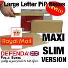 SLIM Royal Mail LARGE LETTER BOXES PiP Postal Pricing In Proportion 333x123x20mm