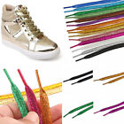 120cm Glitter Sparkly Colors Shiny Shoelaces 1 Pair Flat Shimmering Shoes Laces