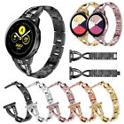 Stainless Steel Band Rhinestone Bracelet Strap For Samsung Galaxy Watch Active image