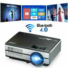 1500lms HD Mini Android WiFi Smart Bluetooth Projector HDMI USB Airplay Miracast