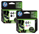 HP Genuine 64XL Black&Color Ink Cartridge In Bag HP ENVY Photo  7164, 7855, 7858