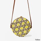 New Style Women Hand-Woven Exquisite Gorgeous Rattan Purse Wicker Crossbody Bag