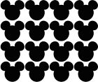 MICKEY MOUSE HEAD 16 PACK WALL WINDOW LAPTOP PHONE STICKERS VINYL DECAL