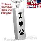 Pet Dog Cat Cremation Ashes Urn Pendant - Keepsake Necklace - Memorial Jewellery