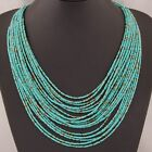 Red Blue  Bo Ho Necklace Multi Layer Bib Statement  Jewellery Long Blue Red Uk