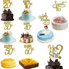 Personalised Happy Birthday Cake Toppers  Bling  Decoration Sign