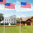 20/25 FT High Aluminum Sectional Flagpole Pole Kit Outdoor +US Stars & Stripes