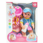 Doll Play Set With Feeding Accessories With Milk Bottle Girls Toy Baby Durable