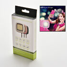 16 LED Camera Smart Selfie Fill Flash Light 3.5mm For Android IOS iPhone FBTS