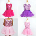 Sequined Top PARTY DRESS With TUTU SKIRT Toddler Girls Birthday Party Dress-up