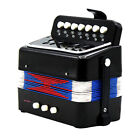 Kids Accordion Toy Christmas Gift Music Toys for Beginner Education Black