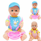 Doll Play Set With Feeding Accessories Girls Toy 38cm Baby Durable Practical