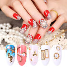 Nail Rhinestones Decoration Black Flat Bottom Mixed Patterns Nail Art Design