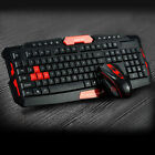 2.4GHz Wireless Gaming Gamer Keyboard And Mouse Set For Desktop PC Laptop Black