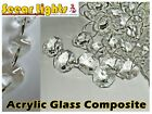BUDGET ACRYLIC CHANDELIER LIGHT FAUX CRYSTALS DROPLETS BEADS WEDDING DROPS PRISM