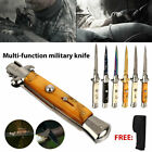 US shIp 22cm Tactical Folding Knife Assisted Opening Survival Camping EDC Pocket